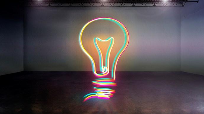 Lightbulb light.