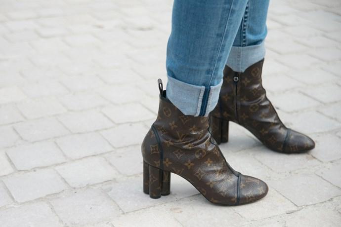 Louis Vuitton boots.