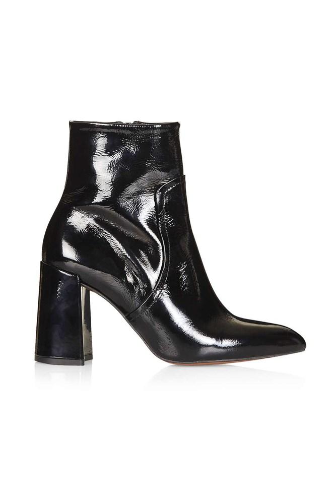 """<a href=""""http://www.topshop.com/en/tsuk/product/hamptons-flared-heel-boots-5152250"""">Boots, approx. $166, Topshop</a>"""
