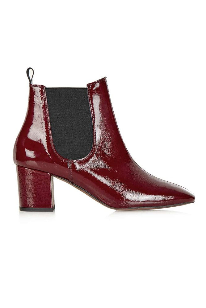 "<a href=""http://www.topshop.com/en/tsuk/product/shoes-430/heeled-boots-4967093/mary-60s-chelsea-boots-5207393?bi=0&ps=20"">Boots, approx. $140, Topshop</a>"