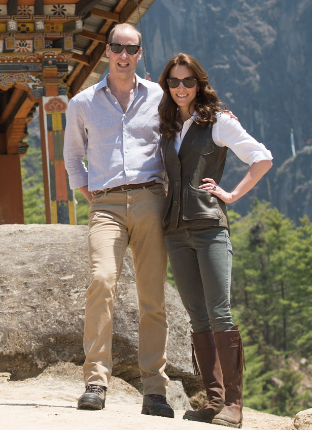 Have you seen this photo of Kate Middleton wearing a leathe vest, knee-high boots and cargo pants to go hiking in the Indian wilderness? Why not?