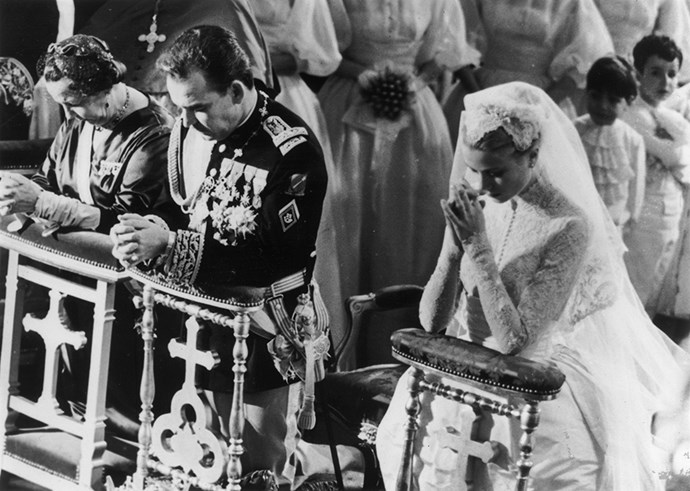Grace's lace juliet cap began a long-standing trend of wedding caps.