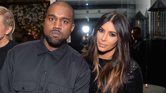 Kanye West and Kim Kardashian West.