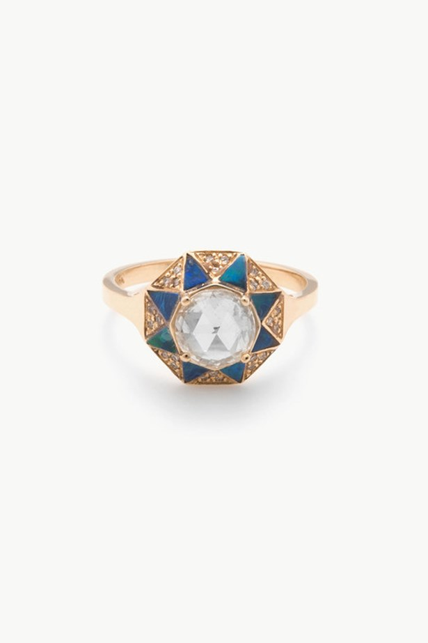 "<a href=""http://dreamcollective.com/collections/kathryn-bentley/products/octagon-ring"">Kathryn Bentley Octagon Ring</a>, $11,820 AUD."