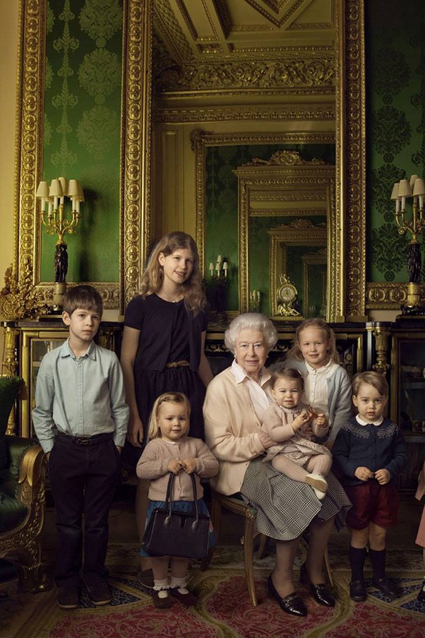 Queen Elizabeth's 90th birthday portrait.