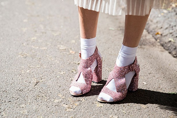 """Take pleats into 2016 with ready-to-party glitter — and socks if you're game."""