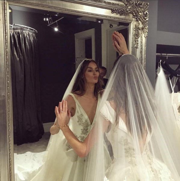 """<p> Nicole wore a traditional veil for the day.<p> <p> Image via <a href=""""https://www.instagram.com/steven_khalil/"""">Steven Khalil's Instagram</a>."""