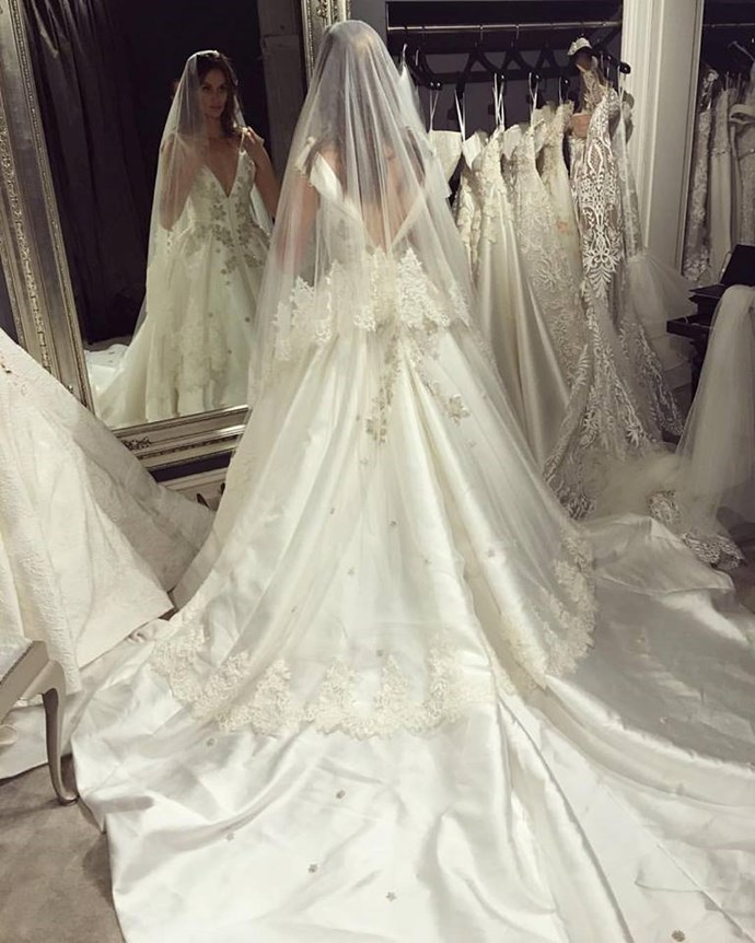 "<p> The back of the dress.<p> <p> Image via <a href=""https://www.facebook.com/NicoleTrunfioOfficial/photos/a.139381219416054.17499.136766736344169/1124281010926065/?type=3&theater"">Nicole Trunfio's Facebook</a>."