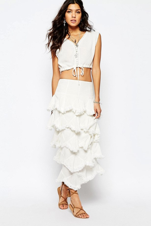 """<a href=""""http://www.asos.com/au/Stevie-May/Stevie-May-Kick-Up-Your-Heels-Ruffle-Maxi-Skirt-in-White/Prod/pgeproduct.aspx?iid=5955898&istCompanyId=f448b47d-6b90-4b9b-a52d-eb6058c99b1c&istItemId=qpxmtxpra&istBid=tztx&mk=abc&affid=11148%26channelref%3Dproduct%2Bsearch&gclid=COPEu9icocwCFQsIvAodINUDHg&gclsrc=aw.ds"""">Stevie May Kick Up Your Heels Ruffle Maxi Skirt, $200, Stevie May at theiconic.com.au</a>"""