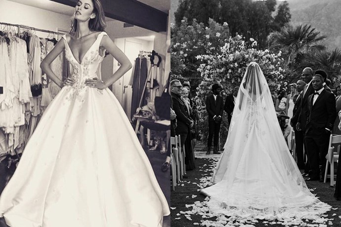 "<strong>Nicole Trunfio </strong>married musician boo Gary Clark Jr. in custom Steven Khalil. <a href=""http://www.elle.com.au/news/celebrity-news/2016/4/nicole-trunfio-marries-gary-clark-jr-in-custom-steven-khalil/"">See more pics from their Palm Springs ceremony here</a>."