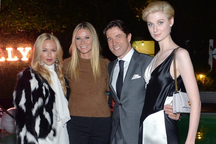 bally dinner rachel zoe gwyneth paltrow elizabeth debicki