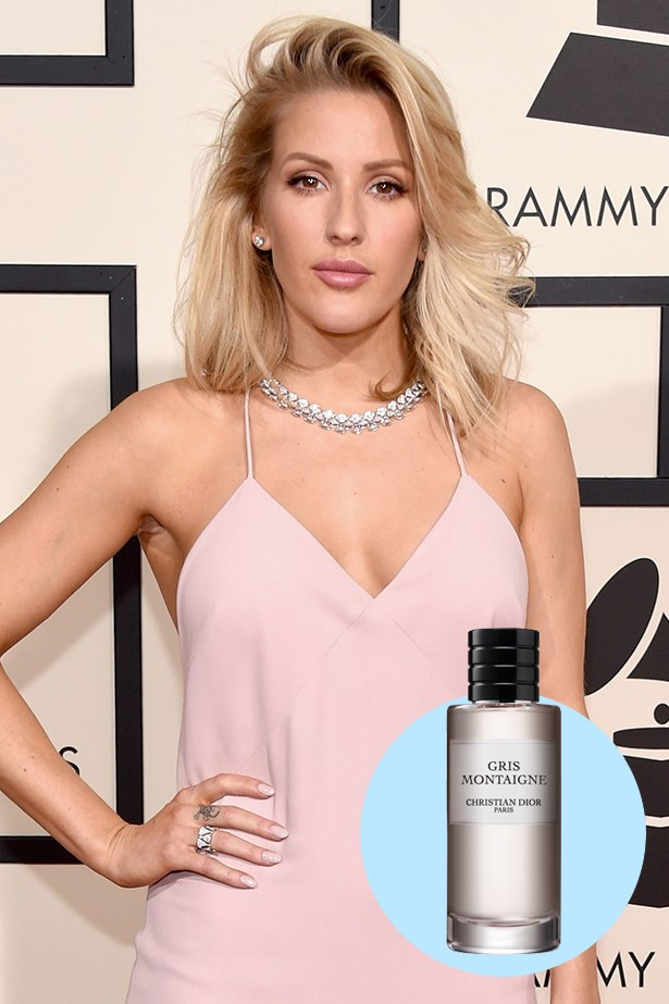 """<p><strong>Ellie Goulding</strong> <p> """"I wear one by Christian Dior called Gris Montaigne. It's lovely but also unisex."""" <p> Gris Montaigne, $335 for 125ml, Dior, 02 9295 9022"""
