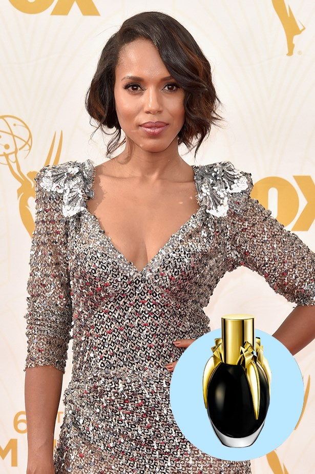 """<p> <strong>Kerry Washington</strong> <p> """"I love that she found a way to make the scent visually disappear on your skin. So fun!"""" <p> Fame EDP, $110 for 100ml, Lady Gaga, 1800 812 663"""