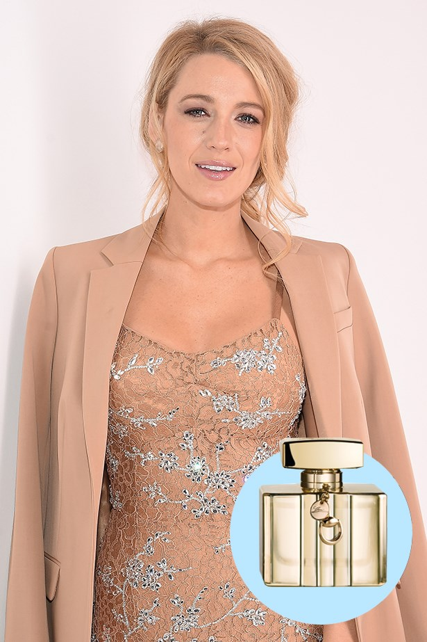 """<p> <strong>Blake Lively</strong> <p> """"Fragrance is a big part of one's identity. It's one of the very few things I do every day, is put on fragrance… Gucci is a staple. It is a brand I have always looked up to because to me it represents strength."""" <p> Premiere EDT, $159 for 75ml, Gucci, 1300 442 878 <p>"""