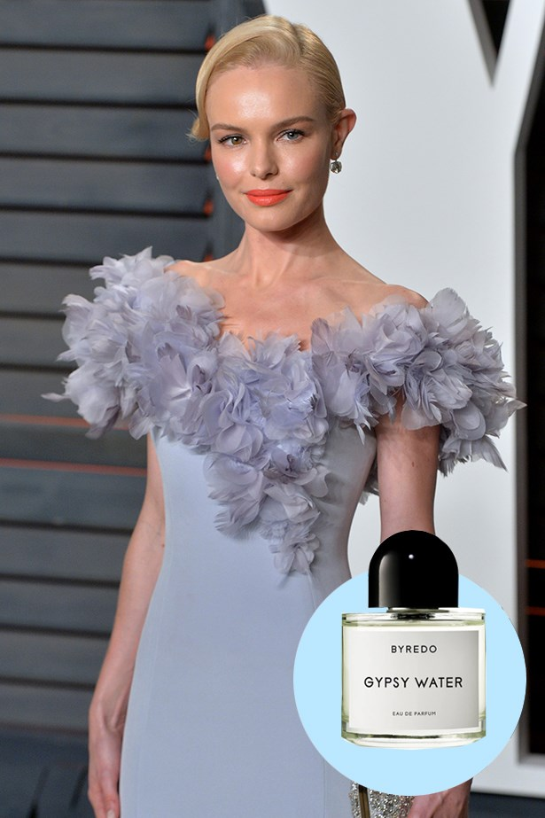 """<p>Kate Bosworth <p> Gypsy Water EDP, $260 for 100ml, Byredo, mecca.com.au <p> """"In terms of fragrance, I'm really loyal to Byredo Gypsy Water. His scents are beautiful and complex and sexy and innocent. There are such incredible layers to what he does."""" <p>"""