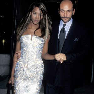 Naomi Campbell and Gianni Versace at the MET Gala.