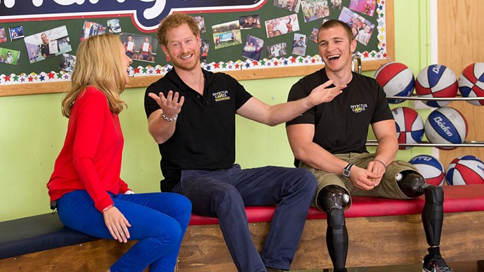 A 9-year-old student has asked Prince Harry if he'll ever be king during filming for a children's television show.