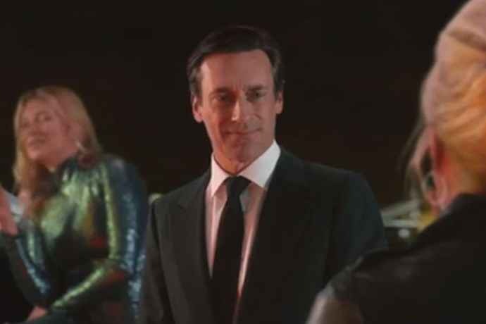 Jon Hamm, who plays a former conquest of Patsy's.