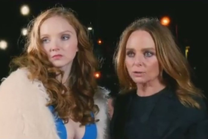 Lily Cole and Stella McCartney.
