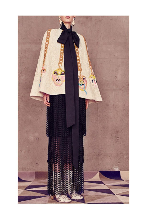 "<a href=""https://www.modaoperandi.com/romance-was-born-ss16/gilgamesh-cape"">Gilgamesh Cape, $1,600, Romance Was Born at modaoperandi.com</a>"
