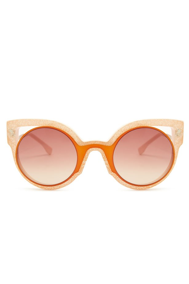 "<a href=""http://www.matchesfashion.com/au/products/Fendi-Glitter-round-frame-sunglasses-1031131"">Glitter Round-Framed Sunglasses, $581, Fendi at matchesfashion.com</a>"