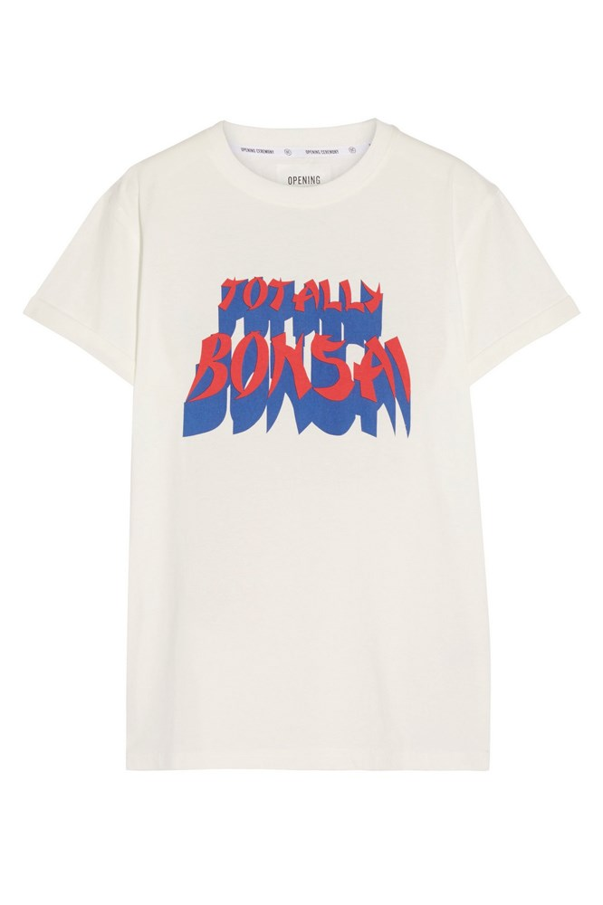 """<a href=""""https://www.net-a-porter.com/au/en/product/683563/opening_ceremony/printed-cotton-jersey-t-shirt"""">T-shirt, $167, Opening Ceremony at net-a-porter.com</a>"""