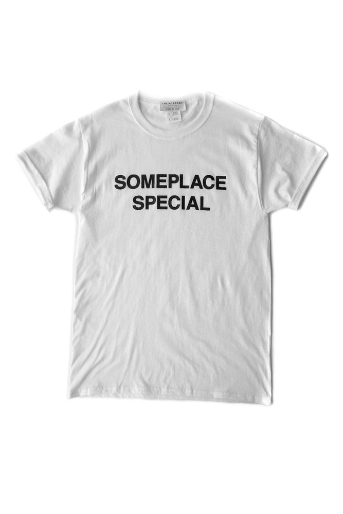"<a href=""http://www.theacademynewyork.com/love-for-sale/someplace-special-tee"">T-shirt, approx. $59, The Academy New York</a>"