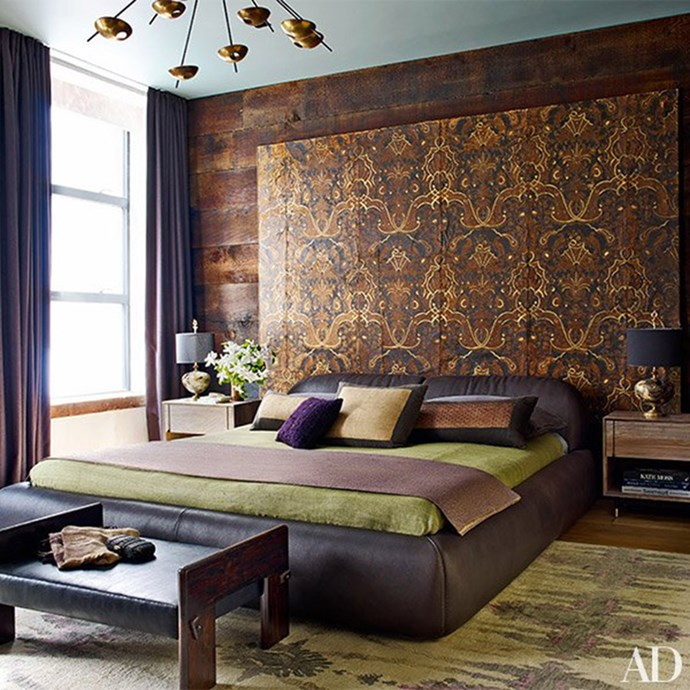 "Chrissy Teigen and John Legend, via <a href=""http://www.architecturaldigest.com/gallery/john-legend-chrissy-teigen-don-stewart-designed-manhattan-apartment-slideshow/all"">Architectural Digest</a>."