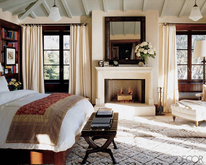 "Cindy Crawford, via <a href=""http://www.elledecor.com/celebrity-style/celebrity-homes/news/g227/celebrity-bedrooms-67718/?slide=10"">ELLE Decor</a>."