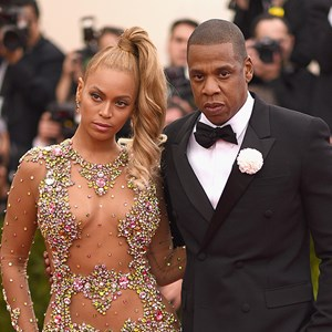 Beyonce and Jay Z at the 2015 MET Gala.