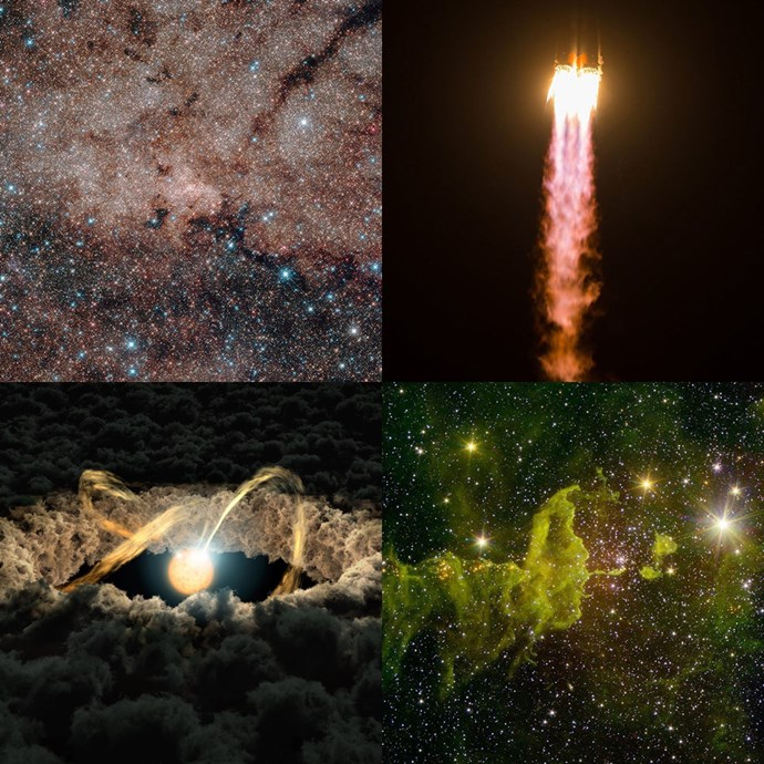 "<strong><a href=""https://www.instagram.com/nasa/?hl=en"">@nasa</a></strong><br> Galaxy clusters and blacks holes? Heaven (literally).<br><br> — <a href=""https://www.instagram.com/edenabagi/"">@edenabagi</a>, deputy art director"