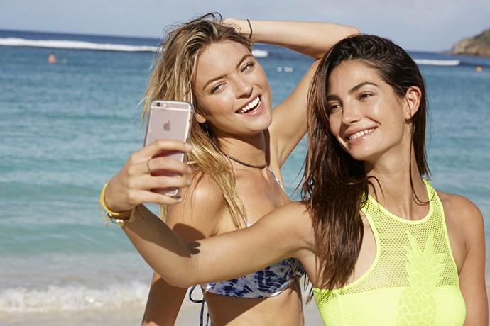 Beach preparation Victoria's Secret Models