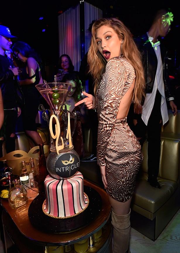 Gigi Hadid 21st birthday.