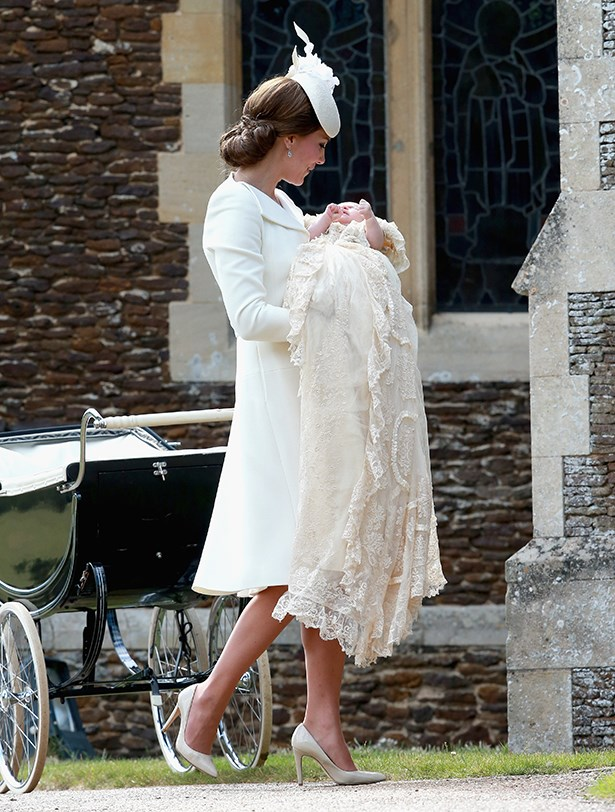 When your mum is wearing custom-made Alexander McQueen but your 400 year old lace dress wins out.