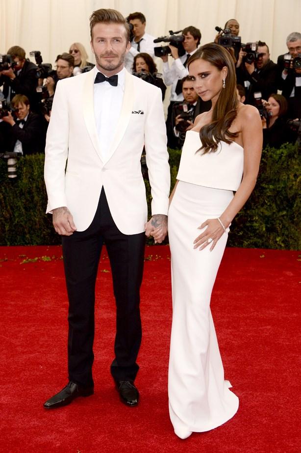 David and Victoria Beckham, 2014.