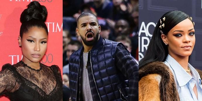 Nicki Minaj, Drake and Rihanna