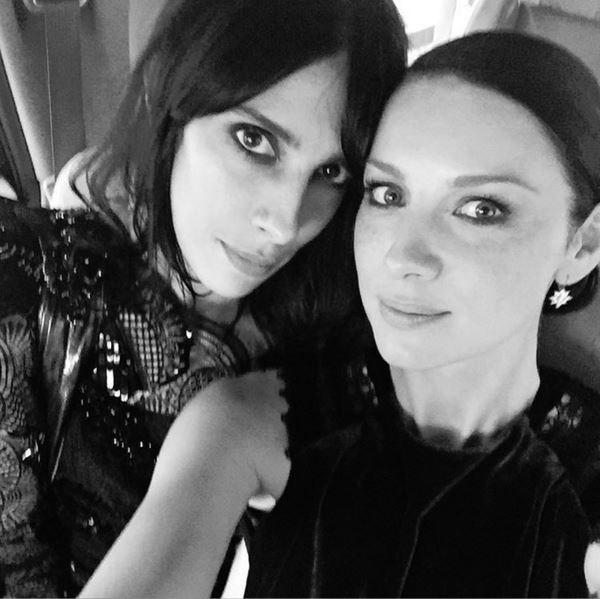 "caitrionabalfe: ""B+W for an old school reunion. One of my dearest @jamiebochert ..... Girls going to the Met xxx @Metgala.2016 #Metball Glam Team : @taraswennenlifeinstyle @garethbromell @Roland_Mouret"""