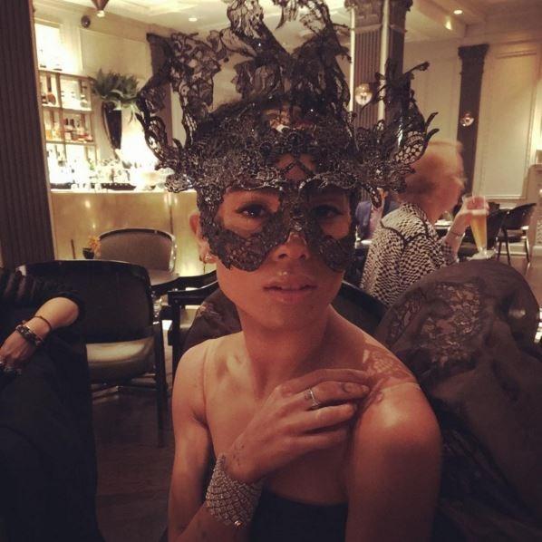 "@maisonvalentino: ""Beautiful @zoeisabellakravitz at the #MetGala2016 in her @maisonvalentino lace mask. @metmuseum #ManusxMachina""."
