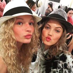 Frederikke Sofie Instagram from Chanel's Cuba Resort show.