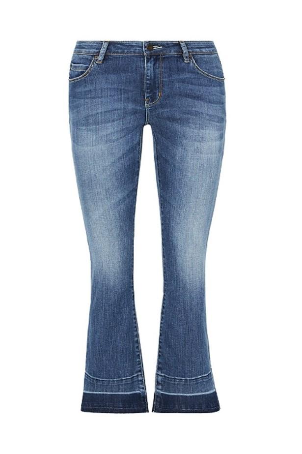 """<a href=""""https://www.sassandbide.com/au/products/inked-rose-washed-indigo"""">Inked Rose Flared Jeans, $240, Sass & Bide at sassandbide.com.au</a>"""