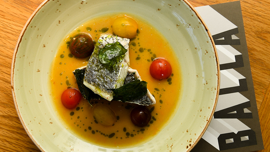 Oro Russo's Mulloway steamed fish.