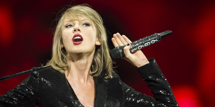 Taylor Swift on stage at her 1989 world tour