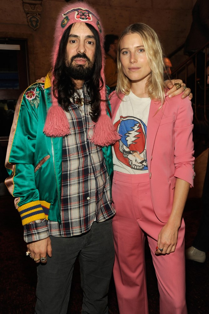 Alessandro Michele and Dree Hemingway