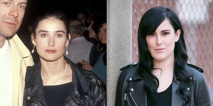 <strong>Demi Moore and Rumer Willis</strong> <br><br> At 27 years old.