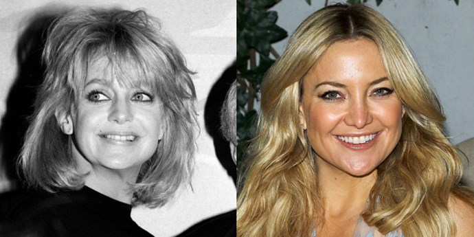 <strong>Goldie Hawn and Kate Hudson</strong> <br><br> At 37 years old.