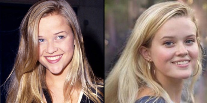 <strong>Reese Witherspoon and Ava Phillippe</strong> <br><br> As teenagers.