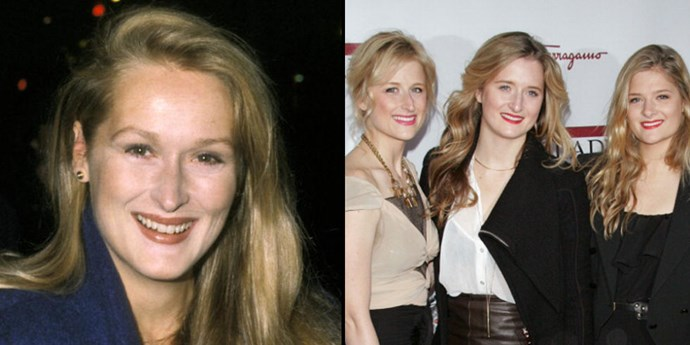<strong>Meryl Streep and Mamie, Grace, and Louisa Gummer</strong> <br><br> Streep at about 30 years old and daughters Mamie at 32, Grace at 29, and Louisa at 24.