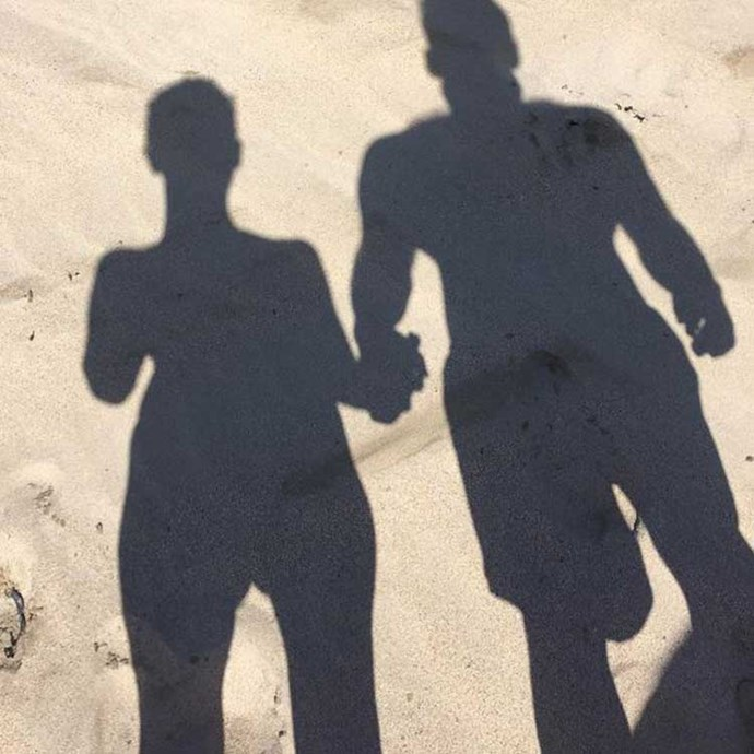 </p><p>When they held hands on the beach.