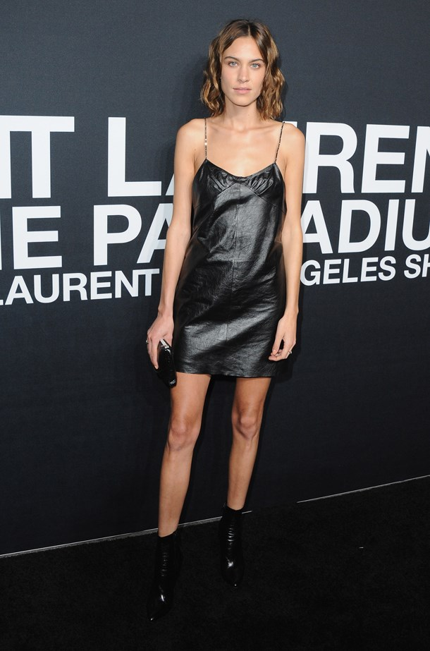 <strong> Alexa Chung, February 2016</strong> <br><br> SAINT LAURENT At The Palladium at Hollywood Palladium.