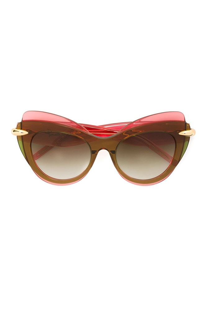 "<a href=""http://www.farfetch.com/au/shopping/women/pomellato-cat-eye-sunglasses-item-11443567.aspx?storeid=9972&ffref=lp_pic_26_1_"">Sunglasses, $522, Pomellato at farfetch.com</a>"